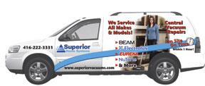 In-home Superior Home System Vacuum repair truck