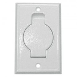 015715 -Central Vacuum Inlet White Metal