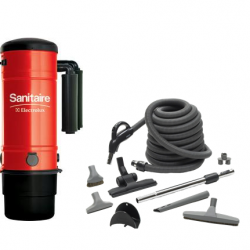 Sanitaire Model SC3500A with Deluxe Air Cleaning Kit 30'