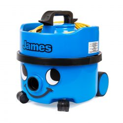 NUMATIC James Canister Vacuum with 90 CFM Sky Blue Single Speed