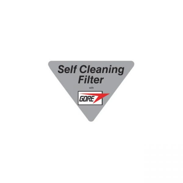 Self cleaning filter with Gore