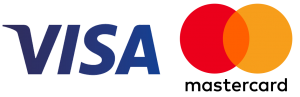 Payment methods - Visa, Mastercard